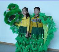 traje de mascote para a música venda por atacado-Brinquedos de arte garoto Lion Dance executar teatro de traje de mascote ao ar livre dias de Natal Desfile de lã Teatro de música do sul cinema traje chinês