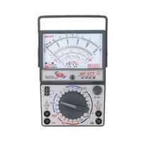 voltios de plastico al por mayor-Multímetro analógico MF-47T Voltaje de CC / CA Medidor de corriente Detección de infrarrojos Probador de hFE de mano Alarma de zumbador de multitester