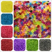 500g Wholesale 3D Miracle Acrylic Beads Drop Smooth Colorful Loose Beads 3 Size