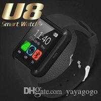 smartwatches для детей оптовых-Bluetooth Smart Watch U8 Wireless Bluetooth Smartwatches сенсорный экран смарт-наручные часы с слотом для SIM-карты для Android IOS с розничной коробкой