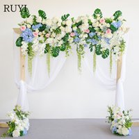 Wholesale high end artificial flowers resale online - High end custom simulation rose flower wedding dress DIY arch decoration artificial flower hotel welcome photography props