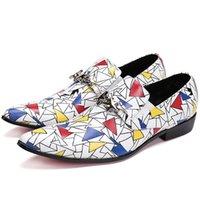 chaussures brogue soldes achat en gros de-Hot Sale-Oxford robe hommes chaussures métal étoiles personnalité brogue formelle respirant chaussures d'été