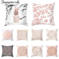 Amazing Fuwatacchi Rose Gold Geometric Cushion Cover Pineapple Glitter Pillow Case Polyester Home Chair Sofa Decorative Pillows 45 45Cm Alphanode Cool Chair Designs And Ideas Alphanodeonline
