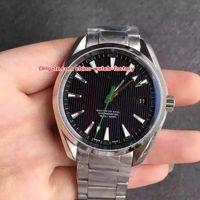 ingrosso orologio aqua terra-8 orologi di alta qualità di lusso di alta qualità 41.5mm Aqua Terra 150m Planet Ocean Co-Axial Asia Orologi meccanici automatici automatici da uomo