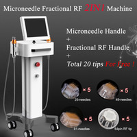 Wholesale facial frequency machine for sale - Fractional rf face lifting device needles rf microneedle facial Acne Scar Removal radio frequency facial tightening machine