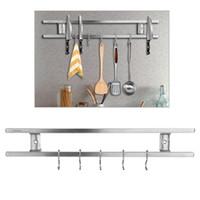 Wholesale mount knife online - Wall mounted Magnetic Knife Holder Double Bar Knife Rack for Knives Utensils and Kitchen Sets