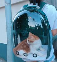 ingrosso zaini per cani-di alta qualità Astronaut Pet Cat Dog Puppy Carrier Borsa da viaggio Space Capsule Zaino portatile trasparente da esterno traspirante D