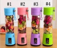 tragbare elektrowerkzeuge großhandel-380 ml Persönliche Mixer Tragbare Mini Mixer USB Entsafter Tasse Elektrische Entsafter Flasche Obst Gemüse Werkzeuge