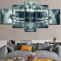 Wholesale Abstract Skull of Teeth Modular Pieces Home Decor HD Printed Modern Art Painting on Canvas Unframed Framed