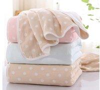 roupão de banho rosa roxo venda por atacado-Ins alta qualidade preço barato bebê três folhas de algodão chuveiro towl e roupão de desenho dos desenhos animados dot rosa e roxo verde amarelo rosa colorido