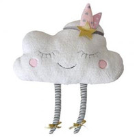 Wholesale memories dolls resale online - Cloud Plush Pillows Creative White Clouds Shaped Cartoon Soft Stuffed Kids Lovely Simulation Sleeping Doll Back Cushion Toys LJJP147