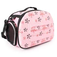 malas de avião venda por atacado-Dobrável Pet Dog Carrier Airline Aprovado Ao Ar Livre Viagem Puppy Shoulder Bag Para Cão Pequeno Y19061901