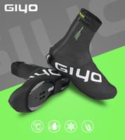 zapato de ciclo de carretera al por mayor-GIYO Calzado de ciclismo de invierno Cubre zapatos Cubre MTB Zapatillas de bicicleta de carretera Envío libre impermeable