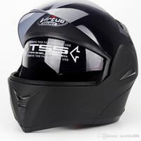moto açık toptan satış-Yeni 808 Flip Up Yarış kask Modüler Çift lens Motosiklet Kask tam yüz Güvenli kaskları Kasko capacete casque moto M L XL