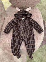 meninos macacão hoodie venda por atacado-Chegam novas macacãozinho bebê crianças menina do menino roupa da criança recém nascida Hoodie longo da luva Adorável jumpsuit 3 Meses-2anos