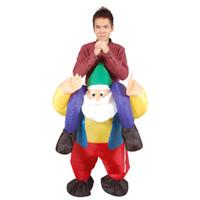 aufblasbare puppen für erwachsene großhandel-Weihnachten Erwachsene Aufblasbare Kostüme Weihnachtsmann Aufblasbare Puppen Festival Requisiten Lustige Aufblasbare Spielzeug Cartoon Cosplay Kleidung