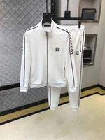 yüksek markalı giyim ceketi toptan satış-Yüksek Kalite Erkek Tişörtü Eşofman Marka tasarım Giyim erkek Eşofman Ceketler Spor Setleri Koşu Takımları 7574