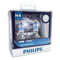 h4 hb2 toptan satış-2X Philips H4 9003 HB2 12V Yarışı Vizyon Xenon Beyaz Işık Halojen Far% 150 Parlak Oto hakiki Ampüller Otomatik Lamba 12342RVS2