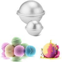 Wholesale bath bomb moulds resale online - Aluminium Alloy Cake Ball Mould Bath Bomb Baking Moulds Roast Ball Mold DIY Dessert Sphere Shape Mold