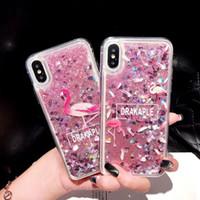 fundas de iphone lindo al por mayor-Para iPhone 6 Funda para niña Para iPhone X 8/7/6 Plus Xs Xr Xs Max Funda para teléfono Quicksand Series Glitter Bling TPU Bumper Funda protectora linda