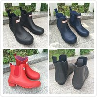 Wholesale rubber boots men rain fashion resale online - Unisex Waterproof Boots Men Women Ankle Rainboots Famous Brand Antiskid Rain Boots Rubber Water Shoes Outdoor Rainshoes Riding Boots Fashion