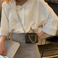 мини-ковшовый подарок оптовых-Women Mini Bucket Handbag Chains Crossbody Bags For Gift  Designer Shoulder Messenger Bags 2019 Retro Black Sac A Main