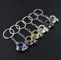 Metal Keychain Sleeve Bearing Spinning Auto Part Model Key Chain Ring Keyfob Keyring