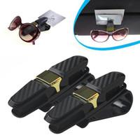 Wholesale sunglasses packing resale online - 2 Pack Glasses Holders For Car Sun Visor Fine Good Sunglasses Eyeglasses Mount