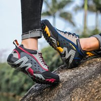 Wholesale outdoor trekking shoes for sale - Group buy outdoor sport genuine leather hiking shoes women ladies breathable trekking shoes women hiking sneakers camping walking shoes