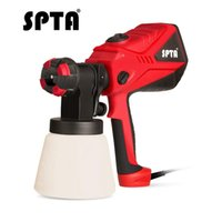 Wholesale valve spray resale online - SPTA W Electric Spray Gun ML Nozzles Sprinkling Can Adjustable Valve Knob Paint Sprayer Gun for Car or Home Furnitures