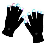 Wholesale glove light show for sale - Group buy Halloween Colorful Glowing Gloves LED Finger Tip Lighting up for Christmas Day Party Entertainment DIY Light Show Glowing Gloves