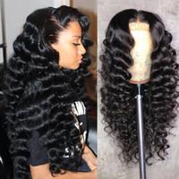 Wholesale remy loose wave hair bundles resale online - Loose Deep Wave Bundles Raw Virgin Indian Hair Human Hair Bundles Remy Hair Extension Natural Color Brazilian Peruvian Malaysian Beyo