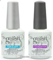 geles uv al por mayor-Armonía Gelish de calidad superior Remoje el gel de uñas Esmalte de uñas Gel de arte Laca Led / uv Base Coat Foundation Top coat