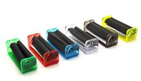 Wholesale roller rolling machine resale online - 70MM Portable Plastic Rolling Machine Manual Tobacco Roller Papers Hand Rolling Cigarette Maker Smoking Tool Accessories Smoking Pipe