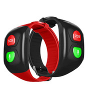 Wholesale elderly watches resale online - Gps Voice Remind SOS Smart Bracelet Watch NO Screen for Old Man Wristband Ftness Tracker Only Two Botton Elderly SOS GPS Track
