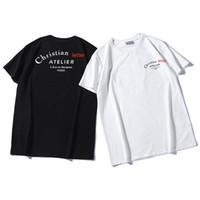 letras de la camisa al por mayor-Camiseta de verano de marca de diseñador para hombre Camisetas de lujo para hombre Camisetas sueltas Imprimir 19ss Manga corta Camiseta de lujo para hombre de talla grande S-2XL