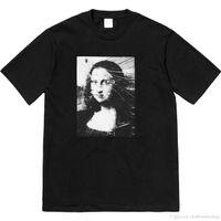 pamuklu özel toptan satış-2019SS Erkek Lüks T gömlek Yeni Moda Tasarımcısı tshirt Avrupa İtalya Roma Işbirliği Özel Baskı Tişörtleri Erkekler Womens Tss Rahat Pamuk