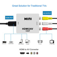 hdmi composite wandler adapter groihandel-1080P HDMI Mini HDMI zu AV / AV zu HDMI Composite Adapter Konverter mit 3,5 mm Audio VGA2AV / CVBS + Audio zu PC HDTV Konverter