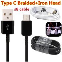 Wholesale braided wire cable for sale – best OD3 S8 cable m ft OD Braided Fabric With Iron metal head Micro Type c usb cable wire for samsung s6 s7 edge s8 htc