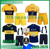 Wholesale boca juniors jersey thai resale online - 2019 Boca Juniors Adult kit and long sleeve Soccer jerseys Uniforms Men s Thai Quality Soccer Jersey Away GAGO TEVEZ Football shorts