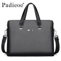Wholesale portfolio briefcases for men resale online - Padieoe Luxury Men s Briefcase High Quality PVC Documents Bag for Male Men Portfolio for Laptop Computers Fashion Office Bags