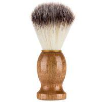 Men's Shaving Brush Badger Hair Wood Handle Barber Salon Men Facial Beard Cleaning Appliance Shave Tool HHA640