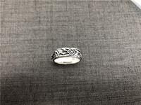 coole ringe für mädchen großhandel-Freies Verschiffen 925 Sterlingsilber-Schädel-kühle Ring Modeschmuck Größe 6-10 Dame Girls Biker Style World War 2 Cool Ring