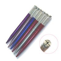 el yapımı kalem kalemleri toptan satış-dövme makinesi Klasik çift dikiş kaş kalemi dövme kalem araçları el yapımı için kaş kalemi ücretsiz nakliye