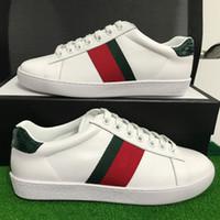 markalar kutusu toptan satış-Lüks Markalar Erkek Kadın Rahat Ayakkabı Tasarımcısı Sneakers Yeşil kırmızı çizgili ACE sneakers Moda Ayakkabı En Kaliteli ...