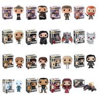 Wholesale game thrones toys online - FUNKO POP Game of Thrones Night s King Jon Snow Daenerys Targaryen Drogon Action Figure Collectible Model Christmas Toys