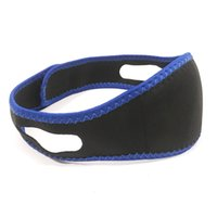 Wholesale fitness bands straps for sale - Group buy Sleep Snore Belt Women And Men Stop Band Sports Fitness Chin Jaw Support Straps Black Blue cs C1