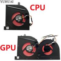 serin gpu toptan satış-YENI MSI için Laptop cpu soğutma fanı GS63VR GS63 GS73 GS73VR MS-17B1 Stealth Pro CPU BS5005HS-U2F1 GPU BS5005HS-U2L1 SOĞUTUCU