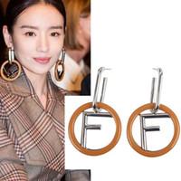 ingrosso nuovi modelli di orecchini-Alta qualità 2019 nuove donne moda modello designer orecchino retrò lettera F orecchino di lusso gioielli popolari