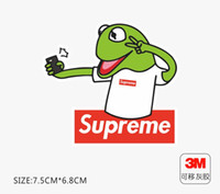 Wholesale frog car stickers for sale - Group buy sup frog suitcase sticker personality popular logo laptop skateboard guitar refrigerator car waterproof M sticker Removable glue small